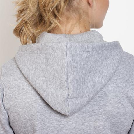 chaqueta sudadera capucha mujer entallada personalizada gris capucha