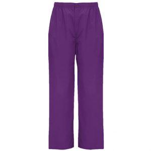 pantalón pijama corte recto unisex personalizado color uva
