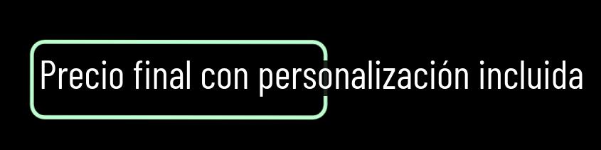 precio final con personalización incluida